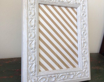 Decorative Grey Leaf Scrollwork Shabby Chic Tabletop Picture Frame 4.5x6.5