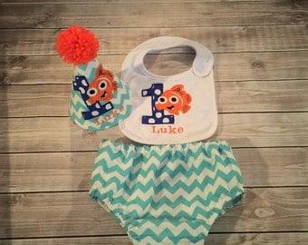 Nemo Baby Cake Smash Set First Birthday Outfit