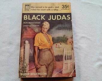 """Vintage 50's Paperback, """"Black Judas"""" by Burke Wilkinson, 1951."""