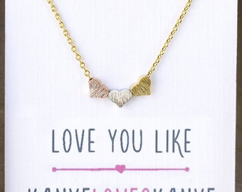 Gold Heart Necklace, Personalized Gold Charm Necklace, Dainty Gold Necklace, Minimalist Heart Necklace, Holiday Gifts for Her N311G