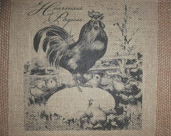 Rooster with Chic's Burlap Picture