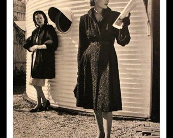 1941 Vogue Fashion Page with Persian Curly Lamb Coat - Wall Art - Home Decor - Hollander - Hat - 1940s - Retro Vintage Fashion Advertising