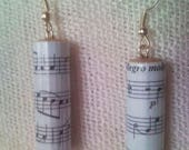 Sheet music, note earrings for musicians, singers and music lovers - b...