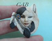 """Cabochon Porcelain """"Shapeshifter"""" by Laura Mears"""
