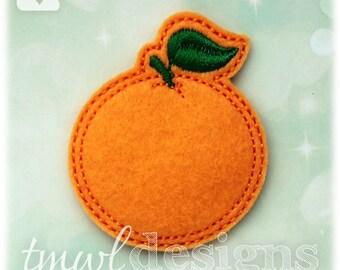 """Grapefruit Orange Fruit Feltie Digital Design File - 1.75"""""""
