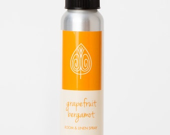 Grapefruit Bergamot Room and Linen Spray,Essential Oil Spray,Scented Room Spray,Grapefruit Spray,Room Freshener,Air Freshener,Deodorizer