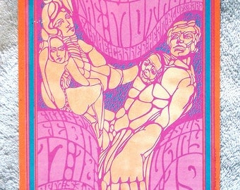 ORIGINAL Blues Project Concert Postcard BG050-PC Fillmore 1967 Vintage Collectibles Bill Graham Music Psychedelic San Francisco Hippies 60s