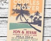 PRINTABLE Couples Shower INVITATION Digital PDF Retro Hawaiian Luau Bridal Wedding Engagement Birthday Party Bachelorette invite diy vintage