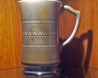 Wade Irish Porcelain Shamrock Mug Green Blue 24oz. Tankard