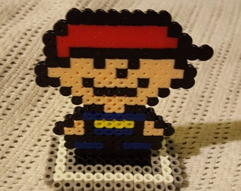 EarthBound Beginnings Ninten standing perler sprite