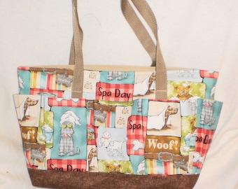 dog spa craft bag / bingo bag/ groomers bag/ knitting bag/ crochet bag/ scrapbooking bag
