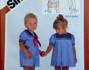 Simplicity 5865 Pattern Toddlers' Dress and Romper - UNCUT