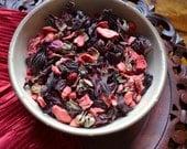 Hello Sweet Tart - Hibiscus Tea- Valentine's Day Tea - Rose Tea- Strawberry Tea - Floral Tea - Valentine's Gift - Gift for Her - Loose Tea