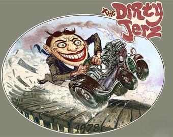 Tillie vinyl STICKER, Dirty Jerz, Asbury Park NJ, boardwalk, decal, car window