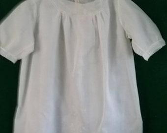 Vintage cotton baby dress