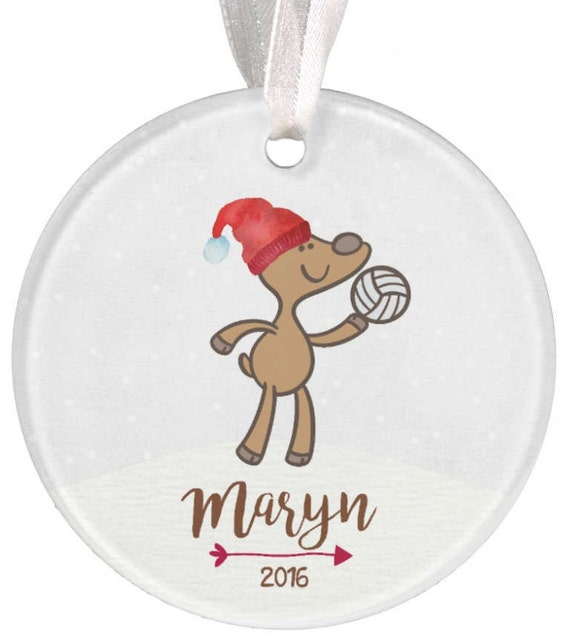 Baptism Ornament Christmas Ornament By Ryellecreations On Etsy: Volleyball Ornament Girls Volleyball Ornament Girls