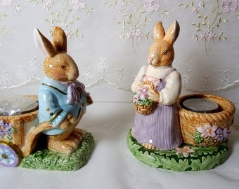 Avon Springtime Collections, Bunny Rabbit Tea Light Holders