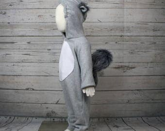 Squirrel Fleece Baby Costume, Squirrel Fleece Outfit, Baby Animal Outfit, Baby Animal Costume
