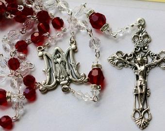 Catholic Divine Mercy Swarovski Crystal Rosary