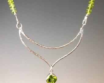 Peridot Necklace - Peridot Jewelry - Gemstone Jewelry - August Birthstone - Green Necklace - St. Patricks Day Jewelry - jewelry gift -Kiwi
