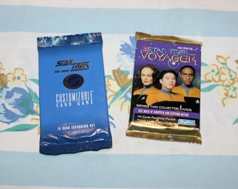 Star Trek Voyager and Next Generation Trading cards, new in packages