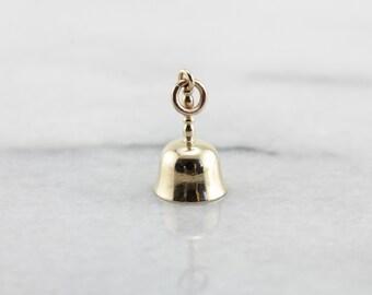Little Ringers Bell Charm in Yellow Gold Z8J998-D