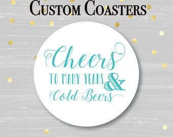 Personalized Coasters, Wedding Coaster, Rustic Wedding, Party Coaster, , Custom Coaster, Drink Coaster, Bar Coaster, Wedding Favors
