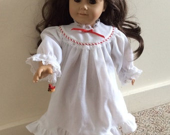 Christmas nightgown slippers and ornament for American Girl 18 inch doll