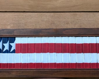 Hand Painted Sign - American Flag Shutter