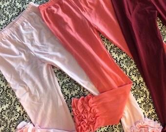Size 7, 8 and 9 Iced ruffled leg icing leggings