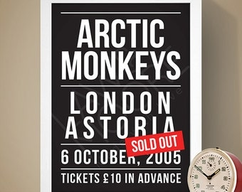 Arctic Monkeys - London Astoria Gig Poster, Concert Poster, Music Print