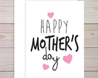 Happy Mothers Day Card, Mothers Day Card