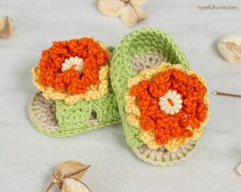 CROCHET PATTERN - Marigold Baby Sandals