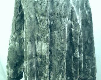 Chinchilla La Maison De La Fausse Fourrure Paris Designer Faux Animal Fur Coat Full Car Grey Gray Silver Womens Size Large Extra Lg Plus