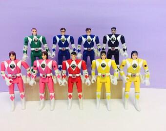 Power Ranger Action Figure, Bandai 1993, Flip Top Head, Weapons, Mighty Morphin Power Rangers, Vintage Action Figures, MMPR Figure, Choose 1