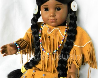Native American Doll Jewelry 18 inch Doll Jewelry Necklace Bracelet American Doll Mixed Color Beads Kaya Doll Bracelet Necklace