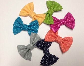 Polka Dot Handmade Fabric Bow Headbands