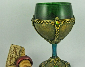 Celtic Liqueur Goblet, Celtic Liqueur Glass, Medieval Celtic Liqueur Vessel