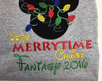 Disney Cruise -Mickey with lights  Merrytime Cruise - Adult