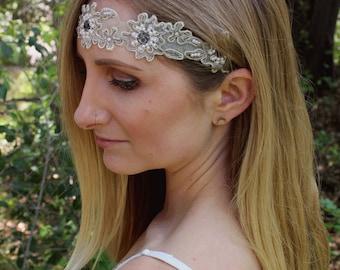 Daisy Headband / Gatsby headband/ 1920's Headband/ Boho headband