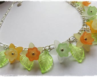 Mini Daffodil necklace, Jonquil necklace
