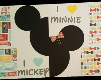 12x12 Premade Pages - Minnie & Mickey