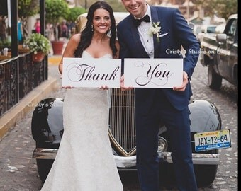 Two (2) Wedding Thank You Signs