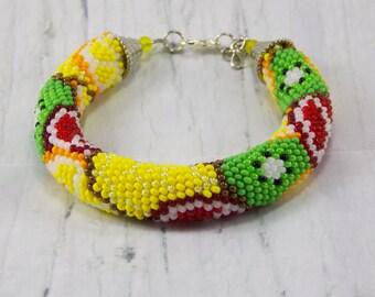 Gift\for\sister gift foodie gift orange fruit jewelry food jewelry cute jewelry vegan jewelry fruit bracelet food bracelet dessert jewelry