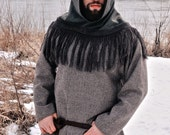 Orkney Hood , Wool hood from Orknay Island, Iron Age, Historical, Celtic Viking hood for historical re-enactments
