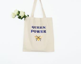 Embroidered Cotton Bag, Tote bag, Canvas tote bag, Shoulder bag,Bee bag,Market bag,Eco friendly bag,Handmade bag,Fabric bag