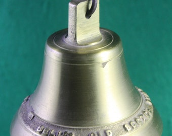 Vintage Rare Bell's Old Scotch Whiskey Brass or Bronze Bar Bell