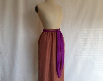 mauve silk skirt