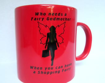 20 oz. Fairy Mug, Coffee Mug, Coffee Cup, 20 Ounce Mug, Godmother Mug, Fairy Godmother, Fairy Glass, Fairy Cup, Sexy Fairy, Fae Mug