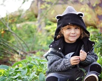 Raccoon Hood, Raccoon Neckwarmer, Raccoon Hat